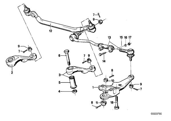 Маятниковый рычаг.  Соединительные детали рулевого управлен., Рулевые тяги/тяги рулевой трапеции.  Номер.