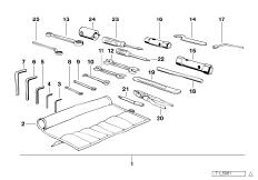 07119999119 - Гаечный ключ рожковый двусторонний.  Запчасти для BMW.  Оригинальные запчасти БМВ.